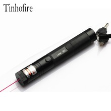Tinhofire Laser 301 200mW High Power 532nm Green 650nm Red Laser Pointer Pen zoomable Burning Matches Lazer(China)