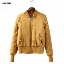 2017 Spring Winter Bomber Jacket Women Aviator Jacket Army Green Baseball Jackets Chaquetas Mujer Jaqueta Feminina Coat Women
