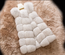 New Women c Full Pelt Fox Fur Long Vest Fashion Brand Genuine Fur Vest  KFP424