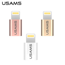 2PCS/Lot USAMS Light to Micro Adapter Support Micro USB cable switch to lightning charging and Data sync for iPhone iPad etc(China)
