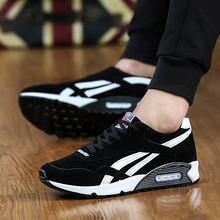2016 New Men Casual Shoes Fashion Breathable Shoes Grey Black Lacing Flat Shoes Plus Size No Logo EUR 36-45(China)