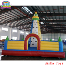 New design inflatable climbing tower moving rock mountain with free blower,used inflatable climbing wall for sale