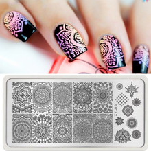 Tools 12*6cm Nail Stamping Plate Stamp Plate  1 PC Mandala Nail Art New Designs  Floral Design  Manicure