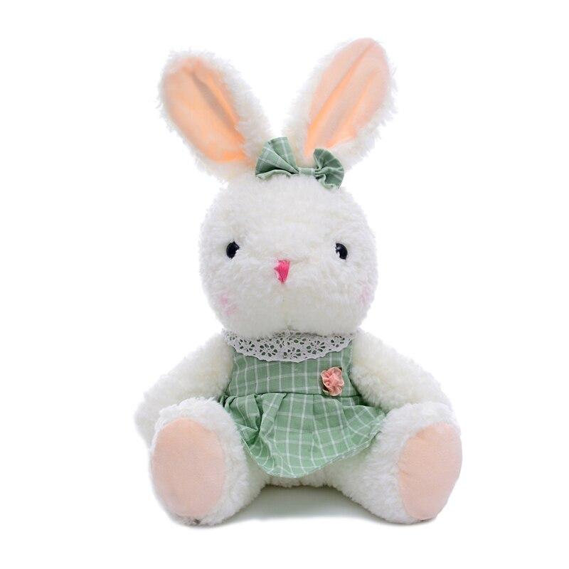 Stuffed Pretty Rabbit Toys Plush Bunny Dolls Wearing Dress Soft Bunny Toys Best Christmas Gifts for Girls Kids 15*9<br><br>Aliexpress