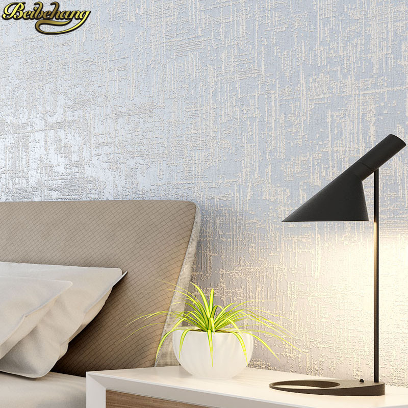 beibehang papel de parede 3D Simple modern solid color White wallpaper for walls 3 d Living room Wall Paper roll papel contact<br>