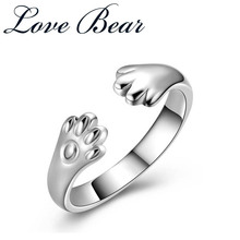 LOVE BEAR 2017 New Arrival Free Shipping 925 Silver Cute Cat Claw Rings Girls' Gift Animal Rings Mood Rings Rings For Women