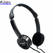 Kubite Foldable Portable Headphone Travel Game Headset 3.5mm Earphone With Mic Wire Control For Phone Children Kid MP3 MP4 iPad