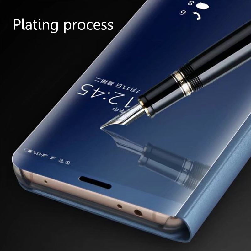 Smart Mirror Plating Phone Case For Xiaomi Redmi 5 Plus Flip Stand View Case Back Cover For Redmi 5 Full Protection Capas Coques (3)