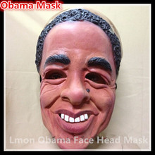 Free shipping U.S President Barack Obama Mask Natural Latex Ecology Masquerade Halloween Christmas Party Presidential Human Mask