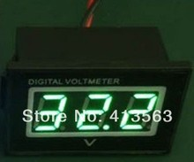 Waterproof 2 Wire 12V green LED Digital Car Motorcycle battery Monitor Voltmeter #0015