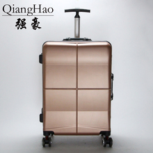 QiangHao new aluminum frame rod box universal wheel travel box 20 24 inch suitcase lock check box boy TSA hard(China)