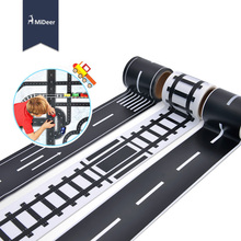 MiDeer sticker road signs 4 styles traffic road railway/motoway/road/curve pathway for kids play toy car 11-407(China)