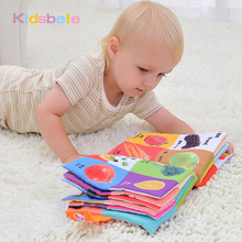 Baby Toys Infant Kids Early Development Cloth Words Books Learning Educational Activity Books Toys For Children Soft Rattles Toy(China)