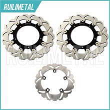 HOT Sale Full Set Front Rear Brake Discs Rotors For YAMAHA YZF R6 600 model year 2003 2004 03 04(China)