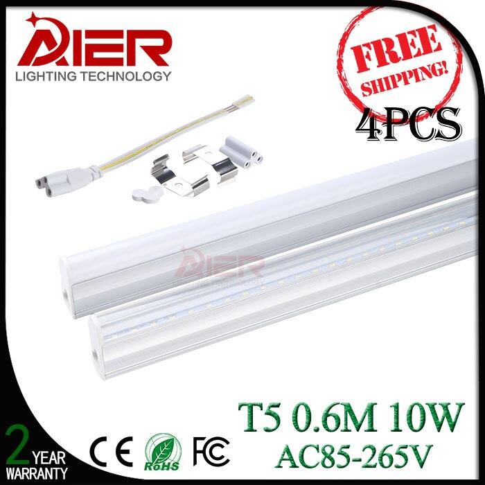 600mm 2ft led tube t5, 10Watt AC85-265V, 4 pieces free shipping by fedex!<br><br>Aliexpress