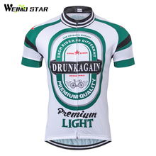 Cycling Jersey 2017 Men Summer Drunk Again Beer Bicycle Cycling Clothing Racing Sport mtb Bicycle Jersey Bike Wear Clothes Ropa(China)
