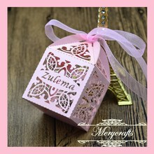 Delicate Wonderful Design Hot Sale Wholesale Customizable Cross Pattern Baby Shower Supplies Laser Cut Favor Box