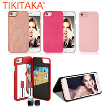 Buy 7 Plus Luxury Lady Mirror Wallet Flip Case iphone 7 7 Plus Cover Fashion 3D Makeup Mirror Leather Card Slot Phone Cases Capa for $4.23 in AliExpress store
