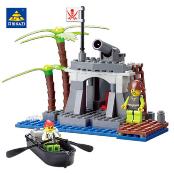 KAZI Jouets Pour Enfant Pirates Série Blocs de Construction Briques Blocs de Construction Jouets Éducatifs Pour Enfants De Noël brinquedos Jouets