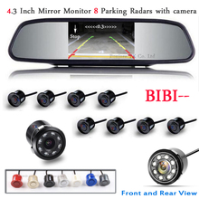 Car detector Parking Sensor 8 Redars BIBI Alarm Sound Parktronic Monitor Mirror LCD TFT Front Form Camera Rear view - Bonjour-YX Store store