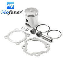 Motorcycle Engine Motor Piston Kit with Gasket Ring For Yamaha PW80 PW 80 80cc 1983-2006 Silver 60.5mm x 47mm