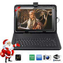 "FreeShipping BoDa 16GB 10.1 ""inch Android 4.4 Wifi Quad core Allwinner A33 Tablet PC Keyboard Free as gift"