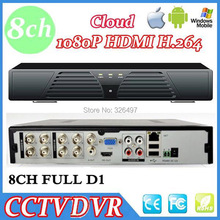 8CH H.264 CCTV SECURITY Standalone Network DVR Recorder 8channel CCTV DVR Recorder for Android iPhone view