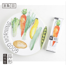 30 pcs/box Heteromorphism Fresh Vegetable paper bookmark stationery bookmarks book holder message card school supplies papelaria