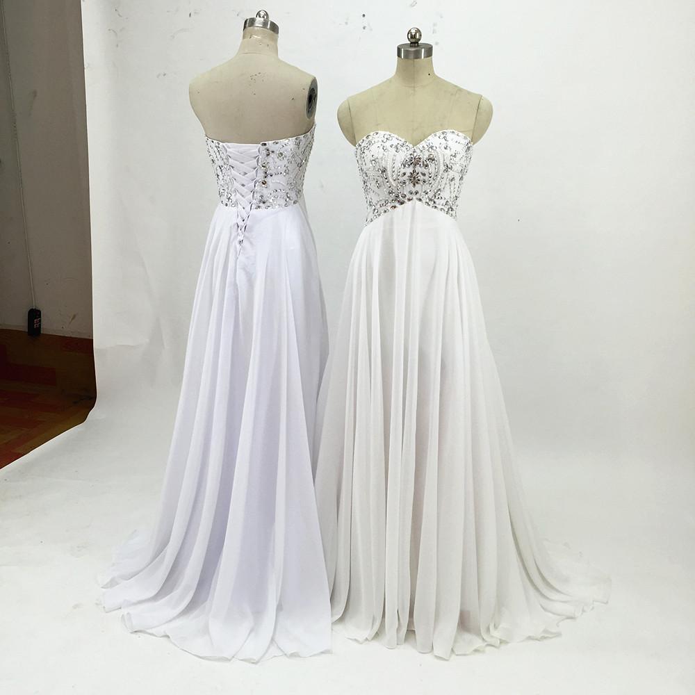 Sexy Chiffon A Line Beach Wedding Dresses Vintage Boho Cheap Bridal Gowns Vestidos De Novia Robe De Mariage Bridal Gown in stock 19