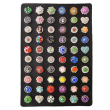 60pcs/88pcs Black Genuine Leather Snap Button Display Ginger Snaps Stand Board Fit 18mm Snap Jewelry