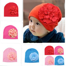 DreamShining New Baby Hat Newborn Photography Cotton Hats Baby Girl Flower Cap Toddler Beanie Hats Girls Caps Accessories