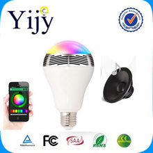 Yijy Phone Control Colorful Music LED Light Bulb Bluetooth Speaker 2 IN 1 Portable Music Smart RGB Bubble Lamp(China)