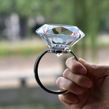 Wedding decoration crystal large ring romantic proposal marriage props to send his girlfriend friends souvenirs birthday gifts(China)