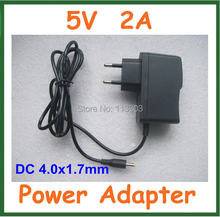 10pcs Universal 5V 2A 4.0x1.7mm Wall Charger Power Adapter Supply EU US Plug for Laptop 10 inch VIA 8850 Notebook Android TV Box