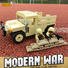 Bevle Decool 2112 Modern War Army Military Transport Vehicle Buidling Blocks Modern Kids Toy Compatible with Lepin