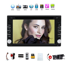 100% New universal Car Radio Double 2din Car DVD Player GPS Navigation In dash Car PC Stereo Head Unit video+Free GPS Map+camera(China)