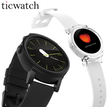 Original Ticwatch E Smart Watch Android Wear MT2601 Dual Core GPS Smartwatch Phone IP67 Waterproof with Mic/Speaker Silicon