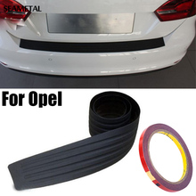 For Opel Astra Insignia Mokka Zafira Family Car Styling Black Rubber Rear Guard Bumper Protector Trim cover Accessories