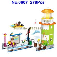 0607 278pcs Girl Friend Pink Dream Pier Wharf Beacon Lighthouse Building Block Brick Toy(China)