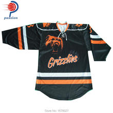 Sublimation printing team ice hockey uniforms