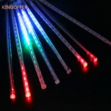 Hot sale Waterproof 50cm Led Meteor Shower Rain light 8 pcs tubes AC110V AC220V Wedding Xmas EU/US Plug Falling Raindrop Light