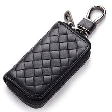 2017 New Key Holder Wallet Genuine Leather Unisex Key Wallet 4 Colors Key Organizer Key Bag Holder Car Housekeeper Wallet DC124