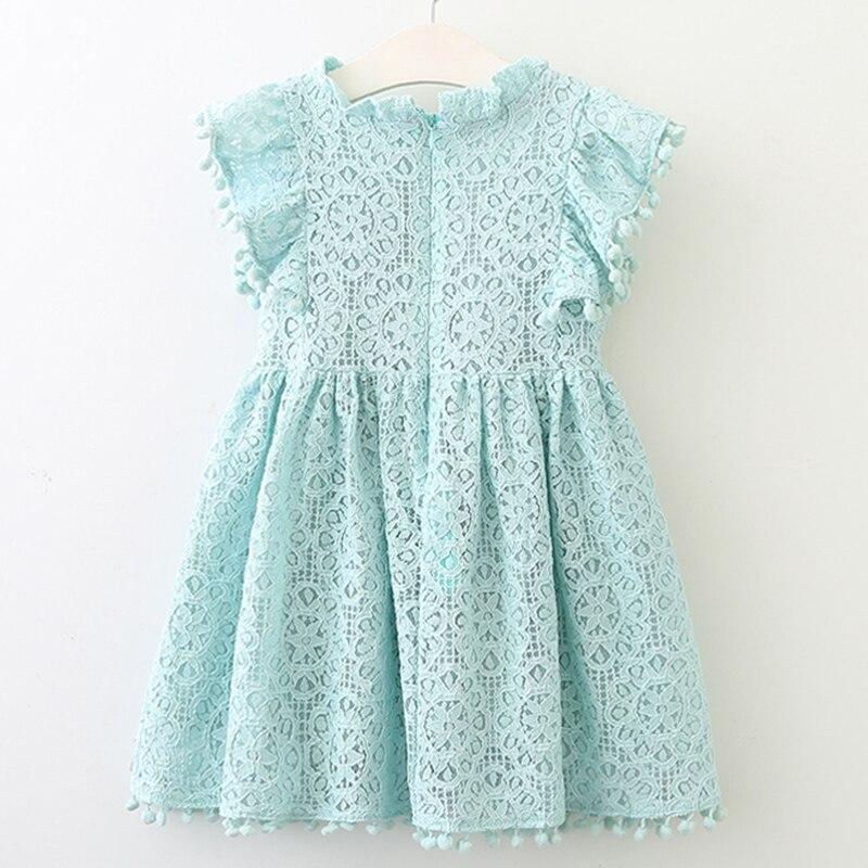 Pitsiline sinine, roosa või kollane kleit