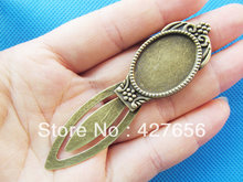 Antique Bronze Oval BookMark Base Setting Tray Bezel Pendant Charm/Finding,Fit 18x25mm Cabochon/Picture/Cameo,DIY Accessory