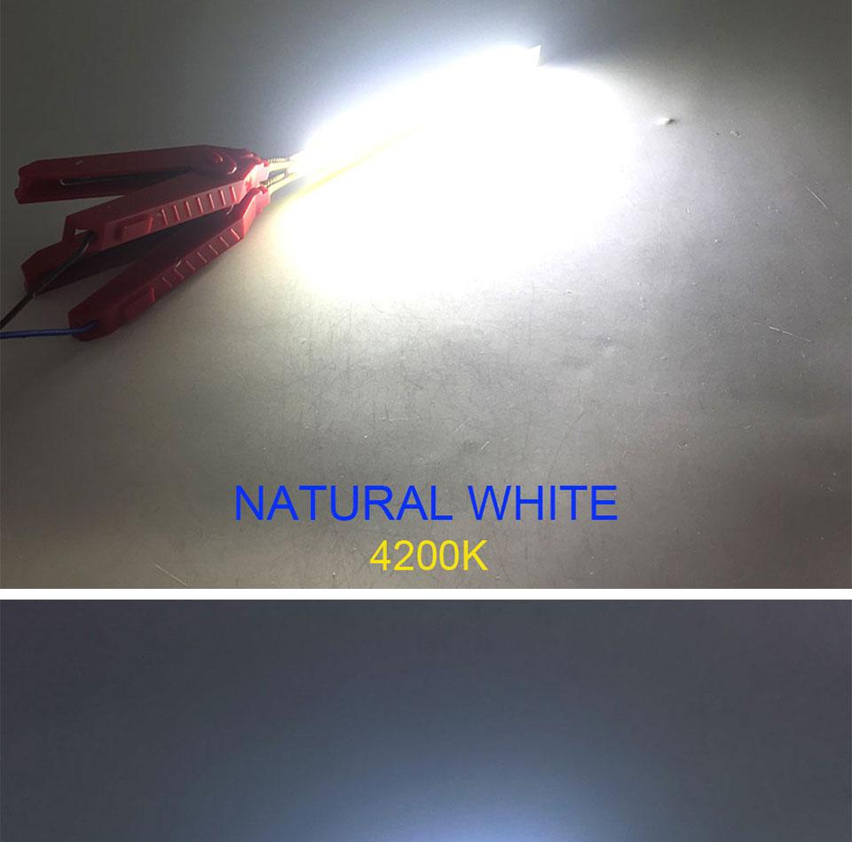 120mm 4.72in LED Bar Light Strip COB Bulb 12V 7W 10W LED Lamp Green Blue Red White Emitting Colors 12010mm COB Chip (13)