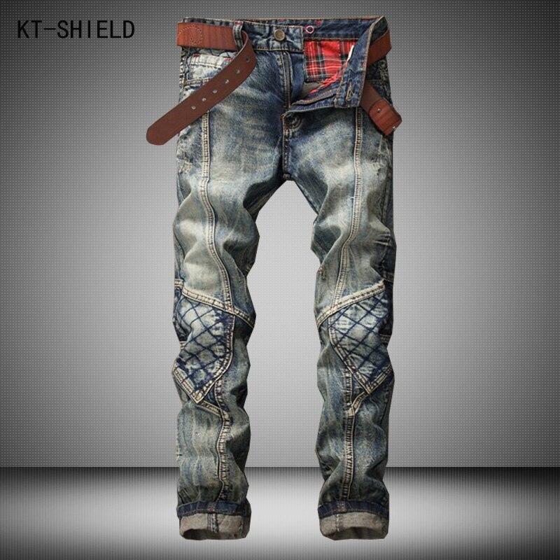 skinny jeans mens famous brand Distressed ripped denim casual trousers hombre biker motorcycle moto calca jeans masculinaÎäåæäà è àêñåññóàðû<br><br>