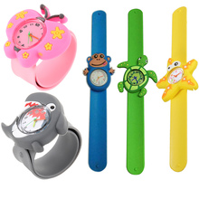 3D Cute Adorable Cartoon Student Wristwatch Animal Quartz Silicone Sports Kids Wrist Watch Unique Pattern Boys Girls Gift LL