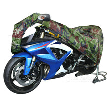 2XL 265 x 105 x 125cm Motorcycle Covering Waterproof Dustproof Scooter Cover UV resistant Heavy Racing Bike Cover Camouflage D10