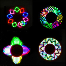 2017 Hot sell LED Flash Light Fidget Hand Spinner Finger EDC ADHD Toy Pattern toys Finger Spinner