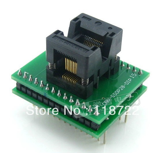 Multifunctional SSOP28/SSOP20/SSOP16 Socket Programmer Adapter for universal Programmer<br>